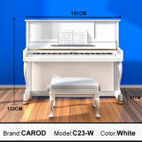 123cm White Upright Piano
