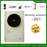 Inverno -25c Aquecimento de piso + 55c Duche de água quente Auto-descongelamento 12kw / 19kw / 35kw / 70kw Bomba de calor Evi Air Source para aquecimento de casas