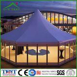 屋外のおおい六角形の3X3mの玄関ひさしの塔のテント