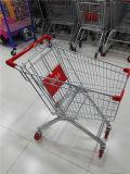 Qualitäts-Metallsupermarkt-Vierradeinkaufen-Laufkatze