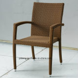 Stackable алюминиевый Wicker напольный сад мебели обедая установленный стул с таблицей 8-10person Using (YTA362-1&YTD020-4)