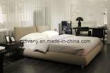 Мебель кровати ткани итальянского типа деревянная (A-B42)