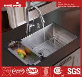 Bassin de cuisine fabriqué à la main, bassin d'acier inoxydable, bassin de cuisine, bassin