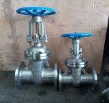Válvula de porta do aço inoxidável da extremidade Pn16 da flange do RUÍDO