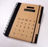 PenおよびCalculator、Promotional NotebookのA5クラフトPaper Spiral Notebook