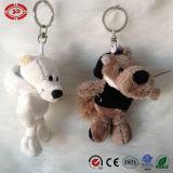 Giocattolo dei bambini del regalo di Keychain della peluche del lupo grigio e dell'orso bianco