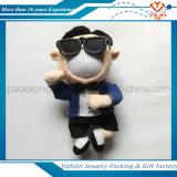 Le cadeau créateur a adapté la poupée de photo de peluche bourrée par poupée mignonne de visage de la photo 3D