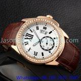 Relógios de luxo de alta qualidade com couro genuíno Hl- 15046