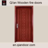 Puerta cortafuego de la madera de la chapa de la teca