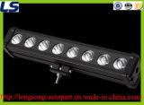 19インチのオフロード車のための白い単一の列LEDのライトバー80Wのクリー語