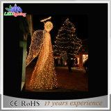 Indicatore luminoso bianco di festa della scultura di angolo di motivo delle decorazioni 3D di natale