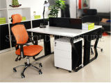 Escritorio de oficina moderno de personal del cubículo de la persona del sitio de trabajo 2 del centro de atención telefónica (SZ-WST719)