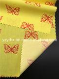 Fertiger Gewebe-Baumwollpopelin-Pfirsich gedruckte gelbe Gewebe-Rot-Basisrecheneinheit 100%