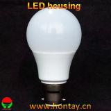 Cubierta plástica de A60/A19 LED para el ángulo grande de 9 vatios