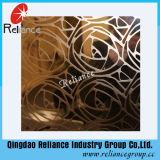 銀製の/Goldenはガラスによって設計されている装飾的なガラス/ホテルの装飾ガラス酸によってエッチングされた装飾的なガラスをエッチングした
