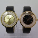 Relógio de senhoras da forma do relógio da cinta de relógios do diamante do OEM