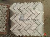 WallおよびFloorのためのイタリアのBianco Calacatta Stone Marble Mosaic