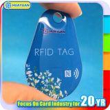 Keyfob a resina epossidica su ordinazione di marchio Ntag215 Ntag216 NFC Keytag