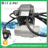 Válvula de bola de agua de latón de control eléctrico de 2 vías Actuador motorizado Válvula de bola de latón con operación manual (T25-B2-B)