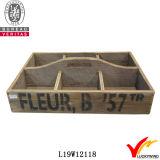 4 compartiments Antique la caisse en bois avec des traitements
