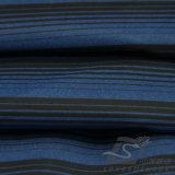 Agua y de la manera de la chaqueta tela catiónica tejida chaqueta Viento-Resistente 100% del filamento del hilado del poliester rayado del telar jacquar abajo (X026)