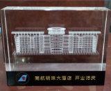 modelo cristalino del edificio del grabado del laser 3D