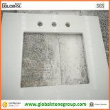 Верхняя часть шкафа кварца Articial белая для каменной мебели гостиницы