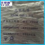 China-Nylonkabelbinder-Fabrik-Großverkauf 4*200mm schwarzer Kabelbinder der UL-Bescheinigungs-PA66
