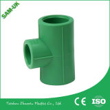PPR Raw Material PPR Pipe Fittings Made in China Productos de alta calidad Latón hembra rosca Tee PP-R Fittings