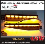 Indicatore luminoso d'avvertimento rosso del parabrezza dell'azzurro LED del camion dei vigili del fuoco lineare