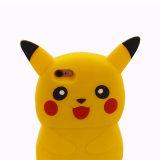 3D Pokemon gaat Gele Zachte iPhone en Samsung van Casefor van de Telefoon van de Cel van het Beeldverhaal van het Silicone Pikachu/Huawei Nieuwe ModelY5II (xsdw-0220)