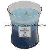 Velas de cristal claras del masaje de la soja del tarro