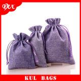 (KL022)卸し売りOEMの昇進のギフト袋の宝石類袋の小さいジュート袋