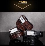 人のためのファッション小物のベルトの留め金のワニの革ベルト