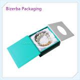 Boîte de boucle d'oreille de bijoux de papier de carton d'impression adaptée aux besoins du client par vente en gros