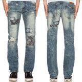 工場新しいデザイン人のデニムによって裂かれるジーンのズボン
