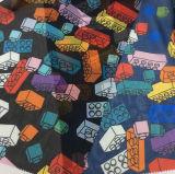 Ткань одежды Twill Organza/сатинировки печатание цифров Chiffon/