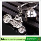 싼 주문 금속 기관자전차 헬멧 Keychain