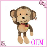 Il giocattolo su ordinazione della peluche della scimmia di migliori prezzi con il materiale molle della peluche