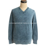 Men Knitted Sweater Clothes in V Neck Long Sleeve (M15-047)
