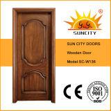 Нутряная конструкция главных дверей твердой древесины Teak (SC-W136)