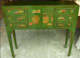 Tabella cinese del lato della mobilia antica