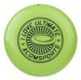 Frisbee en plastique de couleur verte avec l'impression de logo