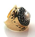De nieuwe Ring van het Ontwerp met de Parel van de Edelsteen belt de Toebehoren van Juwelen