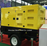 Tipo gerador móvel 200kVA 160kw do reboque da central eléctrica