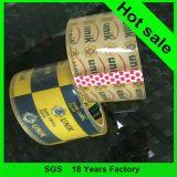 Lado adhesivo y oferta de impresión Diseño de impresión OEM cinta de embalaje