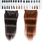 "24 "" African American를 위한 70g Clipin Human Hair Extensions Hair"