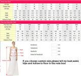 Мантии W1499 шнурка платьев венчания пляжа шифоновые Hi-Низкие дешевые Bridal