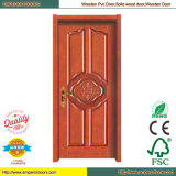Toilette PVC-Tür PVC-Innentür PVC-hölzerne Tür
