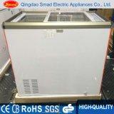 Congelador da caixa do refrigerador da exposição do gelado de porta de vidro de deslizamento